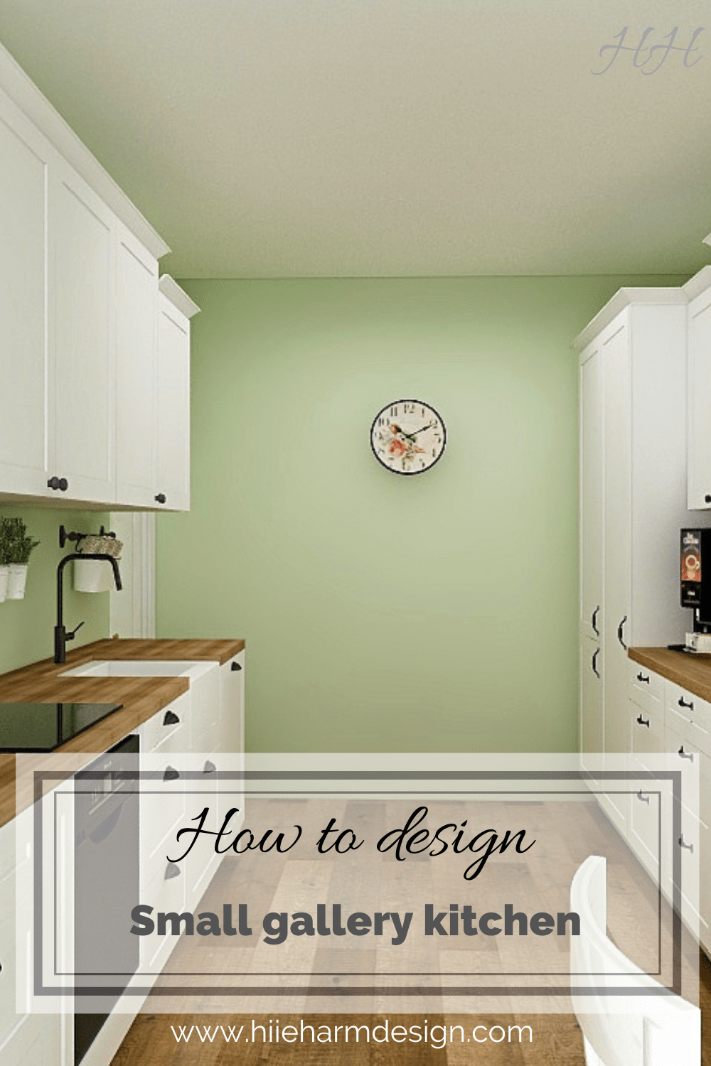 How to design small gallery kitchen 2-min