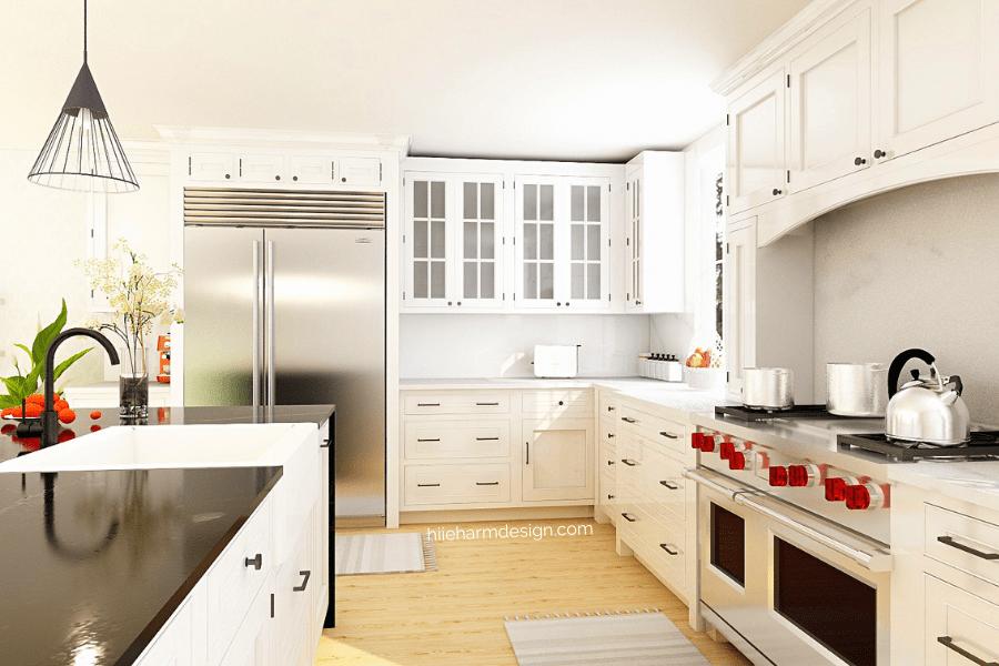 Kitchen designer Hiie Harm American large 3D rendering